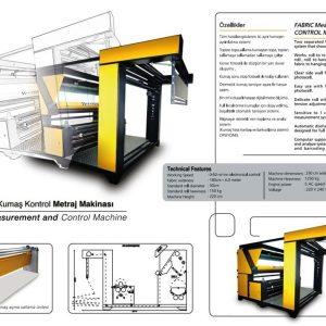 Kumaş kontrol metraj makinası