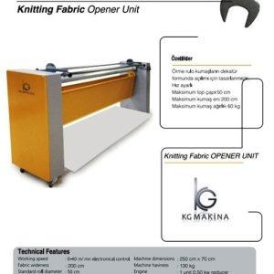 örme kumaş açma makinası