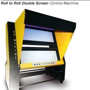 çift ekranlı ham tüp kumaş kontrol makinası