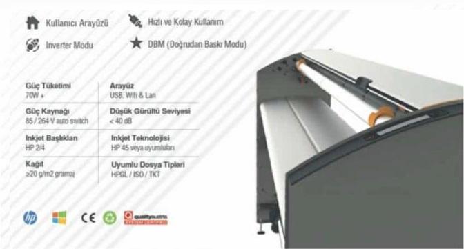 Tkt-Dot Plotter Otomatik kağıt kesmeli pastal çizim makinası