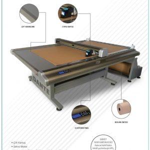 90x150 yatay karton kesici 2 kartuşlu model kalıp kesme makinası